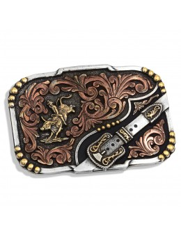 Tri-Color Buckle Up Bull...