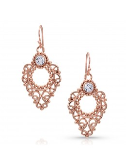 Rose Gold Angel Earrings