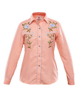 child western blouse Coral