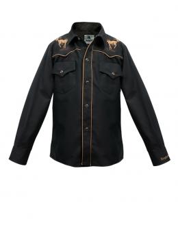 detská westernová košeľa Black