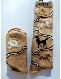 Dámske podkolienky Horse brown