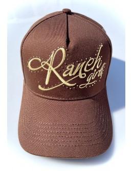 RANCHGIRLS CAP brown   gold