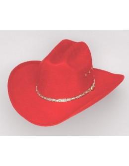 Westernový klobúk RED