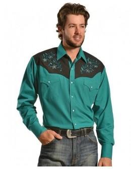 westernová košeľa Teal...